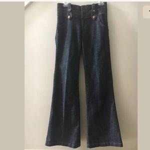 CACHE Flare Stretch Bell Bottom Boho Jeans